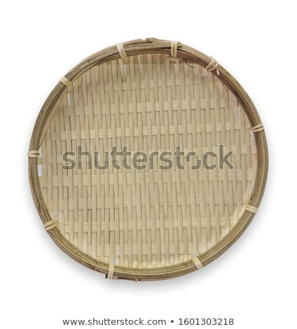 handmade rattan basket on white background stock photo © m_pavlov