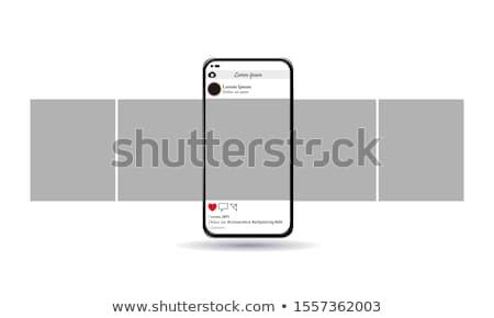 Photo stock: Médias · sociaux · signe · de · rue · élevé · résolution · graphique · nuage