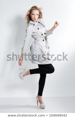 Stock photo: Cute blonde beauty posing