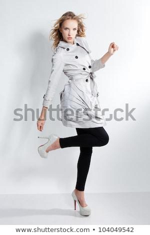huid · blonde · vrouw · sensueel · pose · blond · dame - stockfoto © konradbak