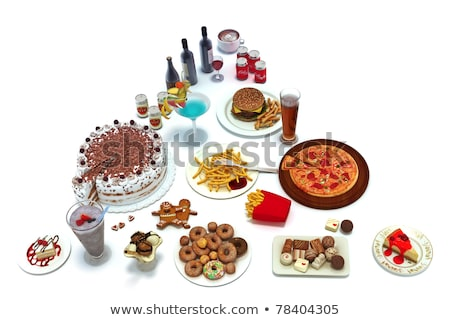 Concept food pyramid of unhealthy food groups  Stock photo © digitalstorm