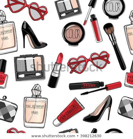 Seamless lip gloss background. Shoe vector, lipstick.  stock photo © Hermione