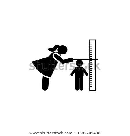 méret · ikon · nő · vektor · osztályzat · magasság - stock fotó © myvector