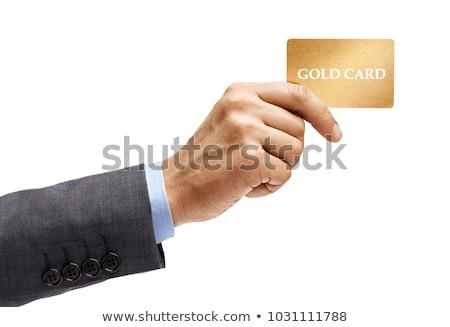 businessman`s hand with card Stock photo © Paha_L