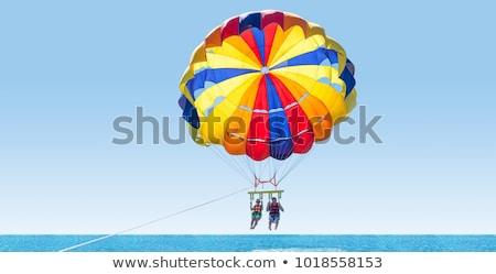 Euro · ejtőernyő · európai · zászló · tart · valuta - stock fotó © creisinger