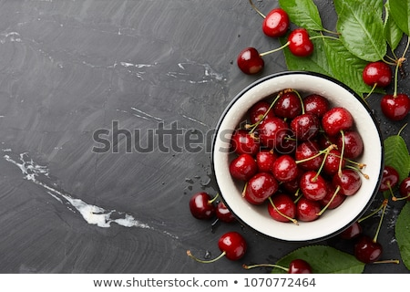Stock photo: ripe black cherry