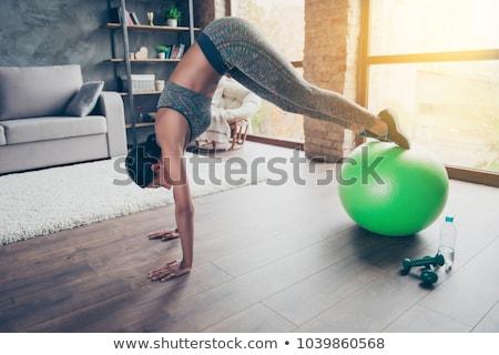 Butt been oefening fitness bal geschikt Stockfoto © darrinhenry