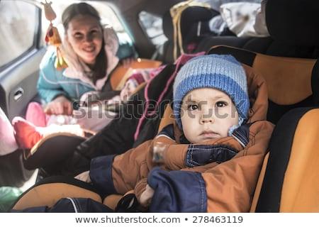 araba · bebek · seksi · sarışın · kız · oturma - stok fotoğraf © mtoome