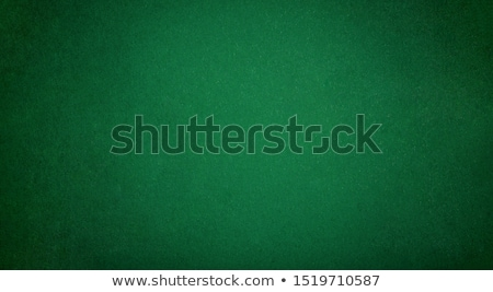 Stock photo: Green Poker Card Table Cloth Macro Close Up