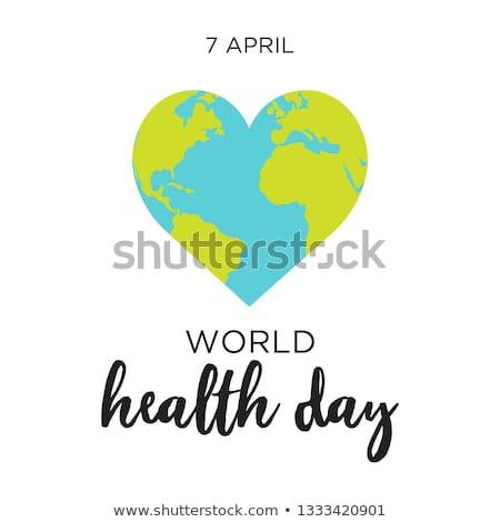Coração terra céu globo espelho planeta Foto stock © njaj