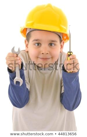 мало бит молодые мастер на все руки строительство домой Сток-фото © photography33