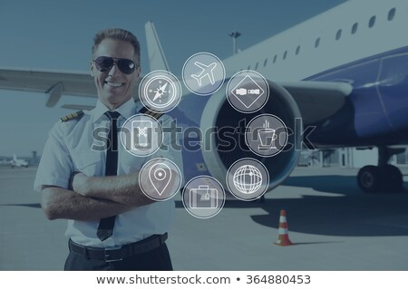 man standing in front of a plane cockpit Stock photo © photography33