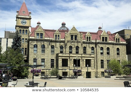 Calgary város előcsarnok öreg kő helyhatósági Stock fotó © jewhyte