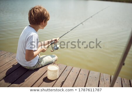 cute young boy outdoors in nature stock photo © lithian