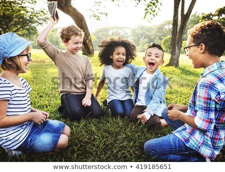 jovem · bebê · menino · caminhada · parque · feliz - foto stock © lithian