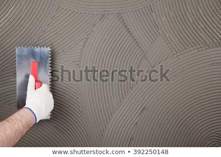 építkezés kőműves cement szerszámok csetepaté épület Stock fotó © lunamarina