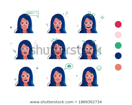 Poker symbol and red haired girl, vector  Stock photo © carodi