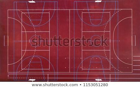 Sepet üzerinde basketbol halka Stok fotoğraf © Sportlibrary