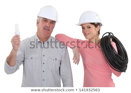 female electrician and mature mentor Stock photo © photography33