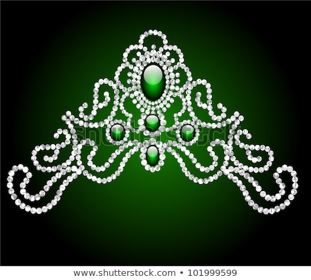 Diamond Diadem feminine wedding , vector illustration Stock photo © carodi