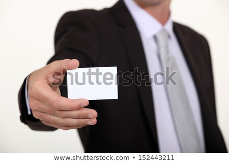 Cropped executive with a blank businesscard Stock photo © photography33
