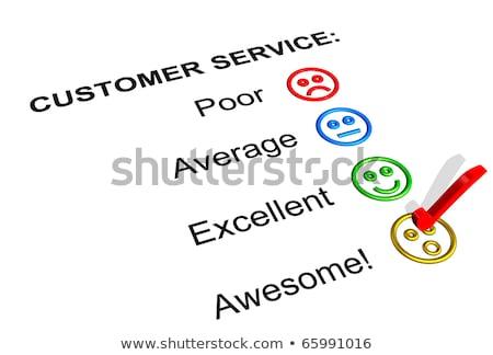 Harika müşteri hizmetleri geribesleme form iş Stok fotoğraf © mscottparkin