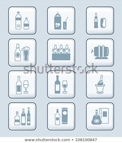 Beber botellas iconos tecnología tradicional bebidas Foto stock © sahua