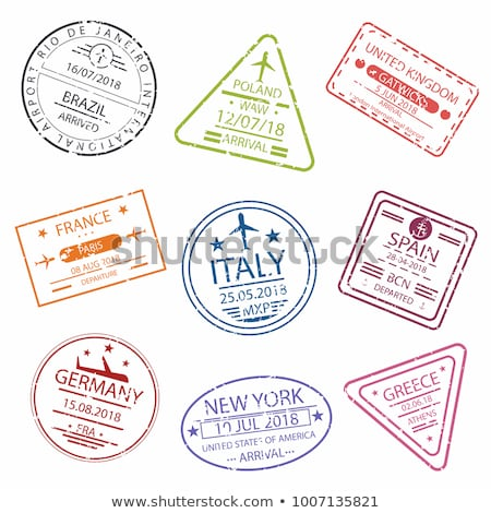 The set of the stamps with different countries stock photo © perysty
