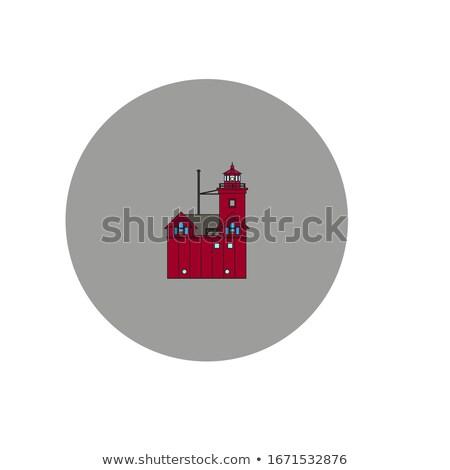 Holland groß rot Leuchtturm Michigan Süden Stock foto © Kenneth_Keifer