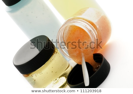 Egyezség kozmetika sárgabarack bozót hab izolált Stock fotó © zhekos
