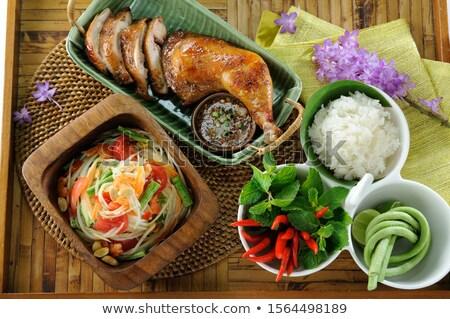 伝統的な · タイ · 辛い · サラダ · 肉 · 野菜 - ストックフォト © hinnamsaisuy