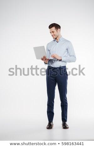 商人 常設 筆記本電腦 業務 面對 男子 商業照片 © photography33