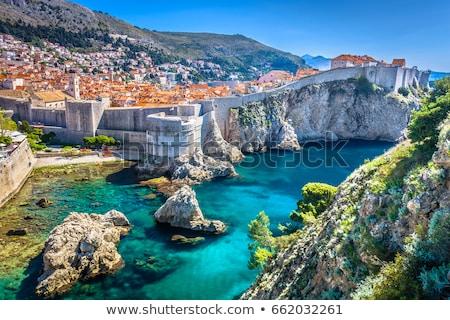 Dubrovnik görmek Hırvatistan mavi tekne renk Stok fotoğraf © jakatics