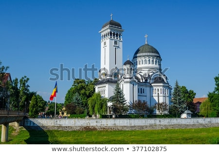Ortodox templom Romania építészet Stock fotó © travelphotography