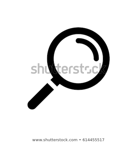 magnifying glass icon Stock photo © experimental