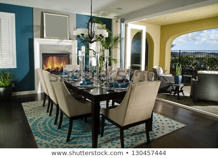Architecture Stock Dining room Design Photo Images stock fotó © cr8tivguy
