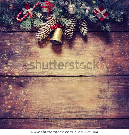 grunge · christmas · kerstboom · sneeuwvlokken · abstract - stockfoto © WaD