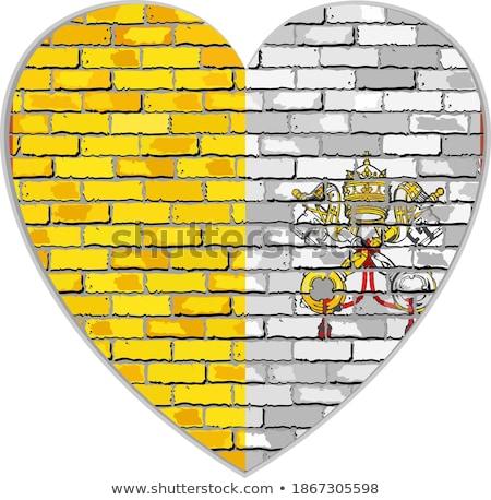флаг Ватикан кирпичная стена окрашенный Гранж здании Сток-фото © creisinger