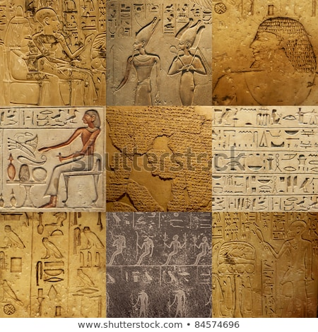 ancient egypt images and hieroglyphics stock photo © ptichka