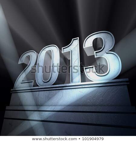 Stock photo: Spotlight on New Year 2013
