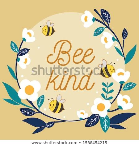 Vicces méh vektor rajz aranyos hordoz Stock fotó © pcanzo