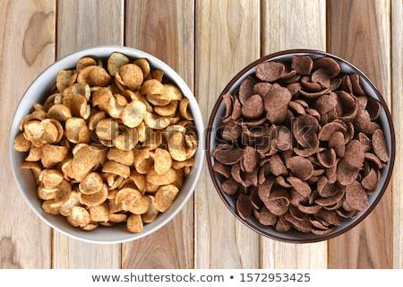 granola · cereales · a · rayas · placa · superficie - foto stock © kornienko