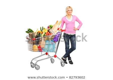 stwarzające · pomidorów · kobieta · fitness · owoców - zdjęcia stock © photography33