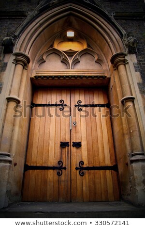 Velho igreja porta entrada pequena cidade Foto stock © samsem