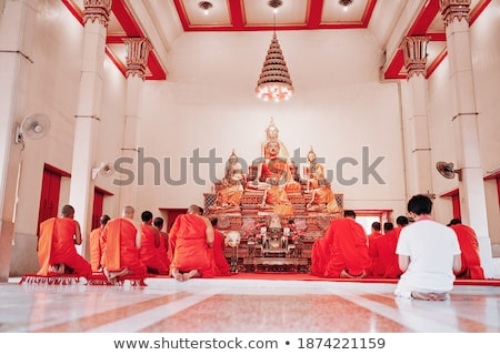 Interior of buddhist temple - Wat Chalong Stock photo © pzaxe