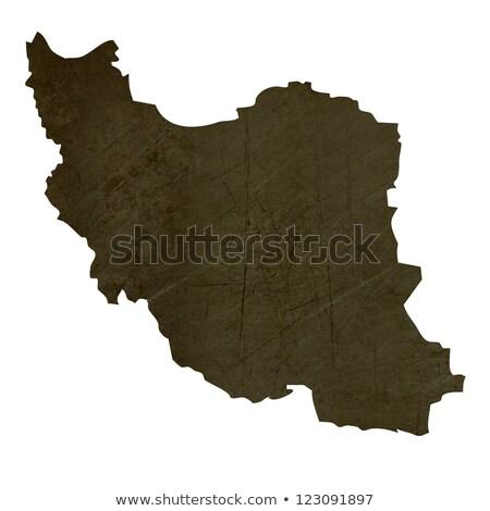 Escuro mapa Irã isolado branco Foto stock © speedfighter