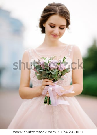 Сток-фото: Young Fiance In Pink Dress
