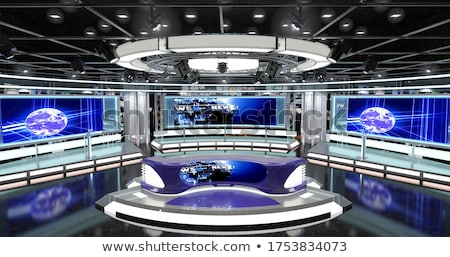3D tv készülék stúdió render Stock fotó © digitalgenetics