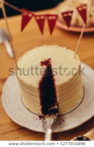 Partially eaten Wedding Cake Stock photo © tepic