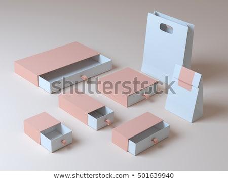 Szoftver doboz ezüst fehér szürke kék Stock fotó © Quka